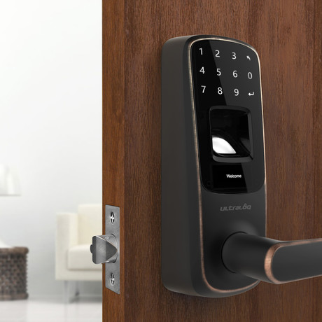 Ultraloq UL3 Fingerprint + Touchscreen Lever Lock // Aged Bronze