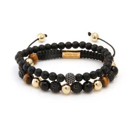 The Crystalix // Black + Gold + Brown