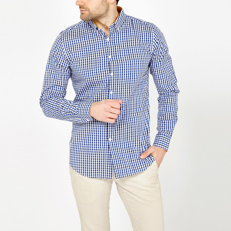 Webster Gingham Button-Down // Blue + Black