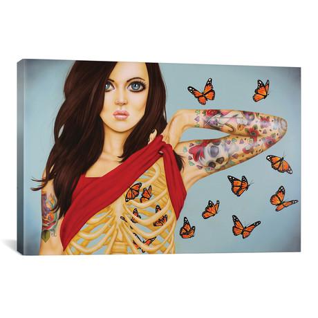 """You Give Me Butterflies // Scott Rohlfs (18""""W x 12""""H x 0.75""""D)"""