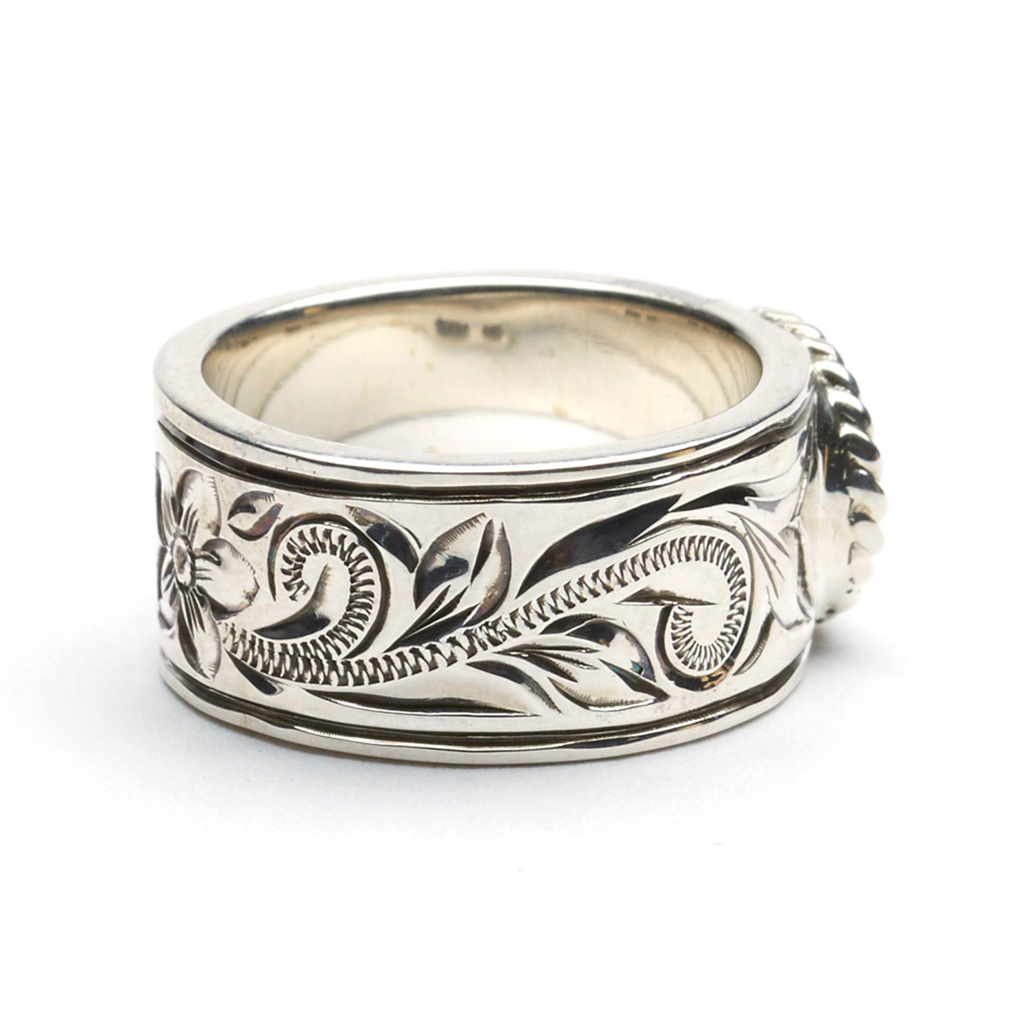 small flat eagle silver ring size 7 maxi hawaii