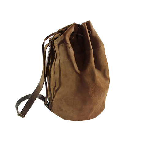 Leather Slight Backpack