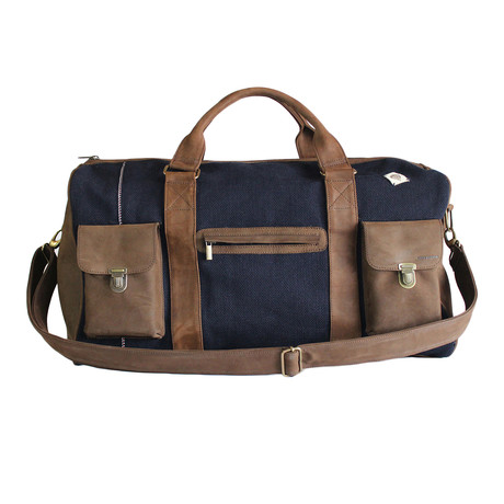 Leather + Denim Travel Bag