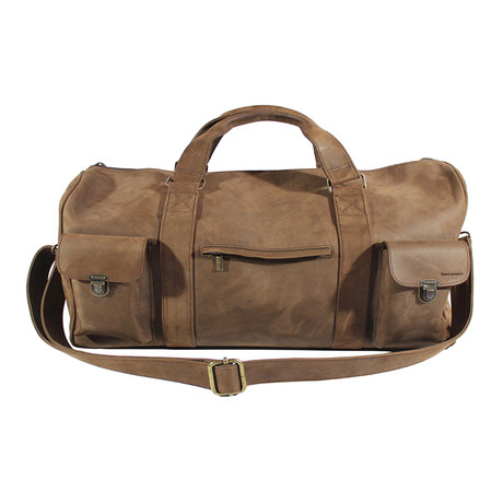 Leather Travel Bag (Brown)