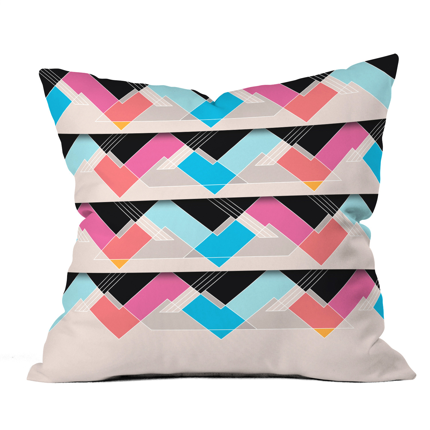 The space between throw pillow 18 x 18 deny designs for Space design blanket