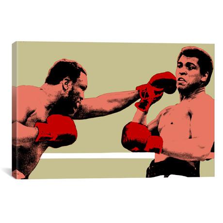 "Joe Frazier Throwing Punch at Muhammad Ali, 1975 // Muhammad Ali Enterprises (26""W x 18""H x 1.5""D)"