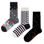 Ballonet // Mid-Calf Sock // Downtown // Pack of 3 (Size: 6-9)