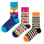 Ballonet // Mid-Calf Sock // Illusion // Pack of 3 (Size: 6-9)