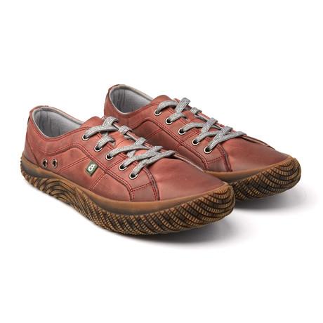 Rebellion II Low-Top Leather Sneaker // Red