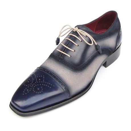 Suede Captoe Oxford Suede // Blue (US: 7)