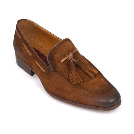 Antique Suede Tassel Loafer // Brown
