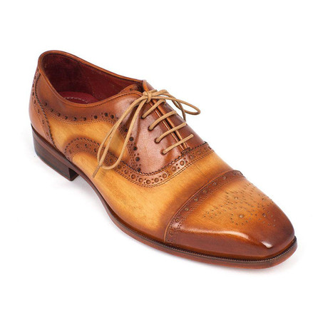 Leather Captoe Oxfords // Tan