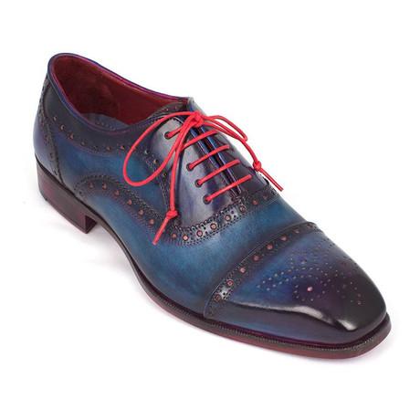 Leather Captoe Oxfords // Blue (Euro: 38)