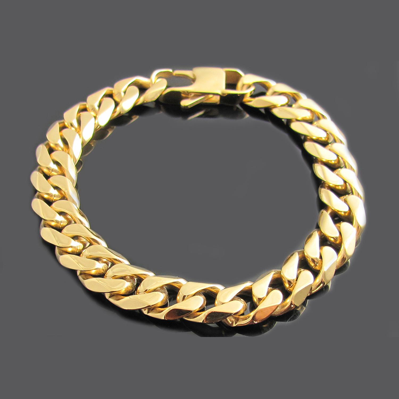 Cuban Link Bracelet 18k Gold