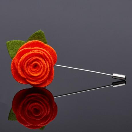 The Brayden Lapel Pin // Orange