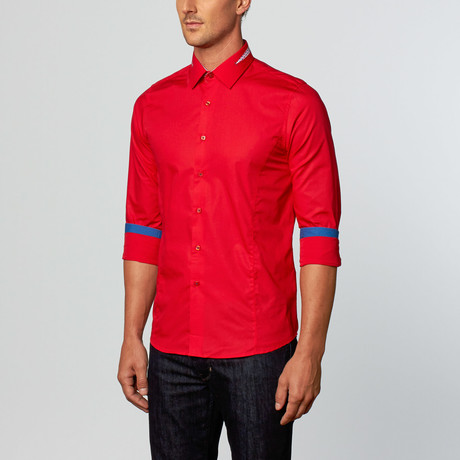 Riga Dress Shirt // Red