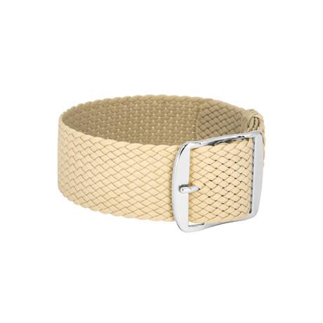 Bon Echo Braided Perlon Strap Sand Beige // Steel