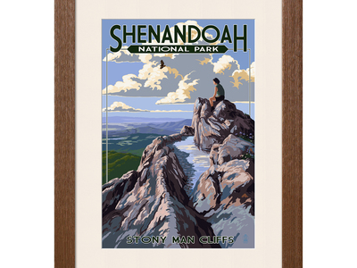Touch Of Modern - National Parks Framed Travel Prints Shenandoah National Park // Stony Man Cliffs View Photo