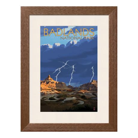 Badlands National Park // Lightning Storm