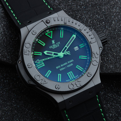 "Hublot Big Bang King ""All Black Green"" Automatic // 322.CI.1190.GR.ABG11"