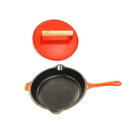 Cast Iron Pan Set // 2pc (Green)