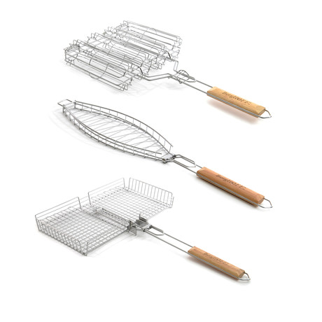 Grill Basket // 3 Piece Set