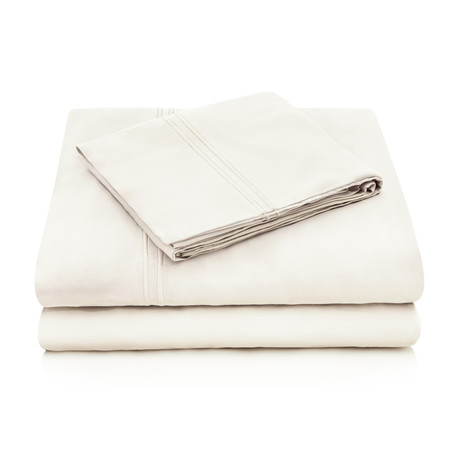 Rayon Bamboo Sheet Set // Ivory (Queen)