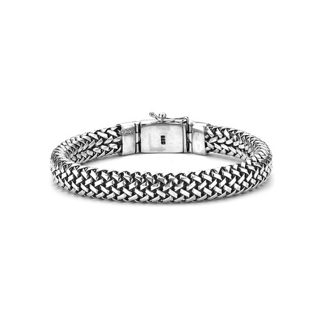"Woven Bracelet // Silver (8.5"" // 59.8g)"