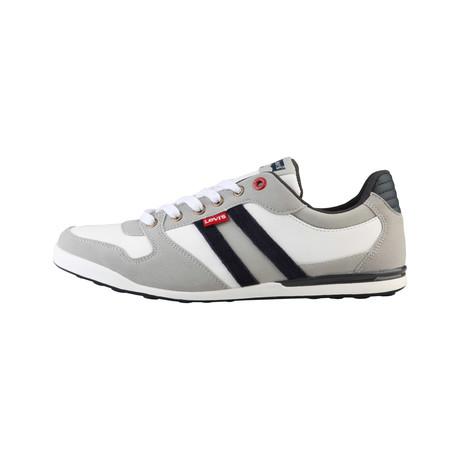 Levis // Logan Low-Top Sneaker // White + Grey