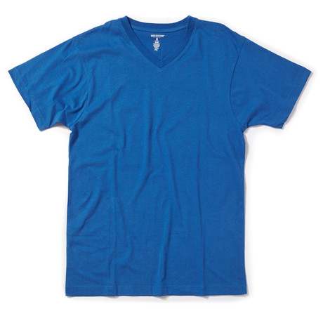 V-Neck Tee // Blue (S)
