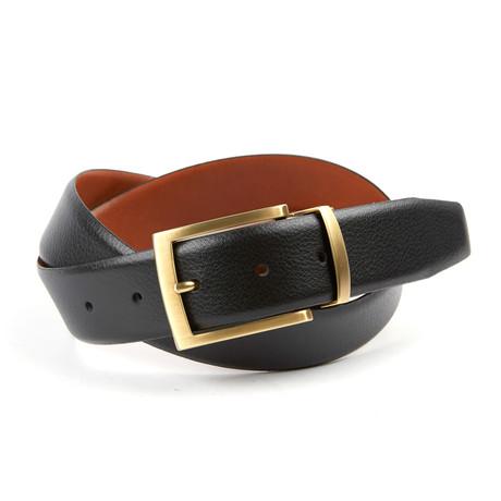 Harrison II Reversible Casual Belt // Black + Tan (32)