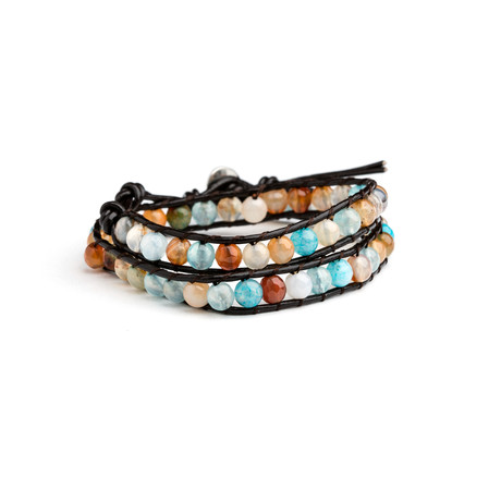 Agate Double Wrap Bracelet // Multi