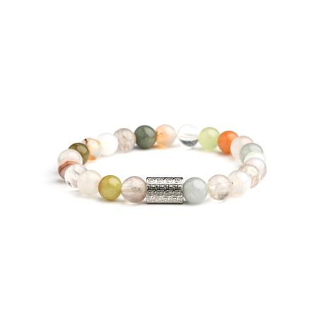 Jean Claude Jewelry // Quartz + Flower Agate Bracelet // Multicolor