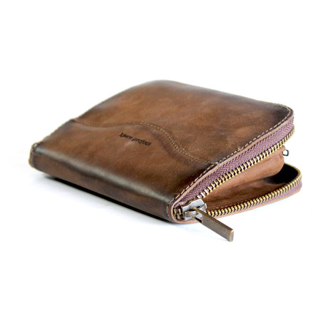 Squared Zip Wallet (Brown)