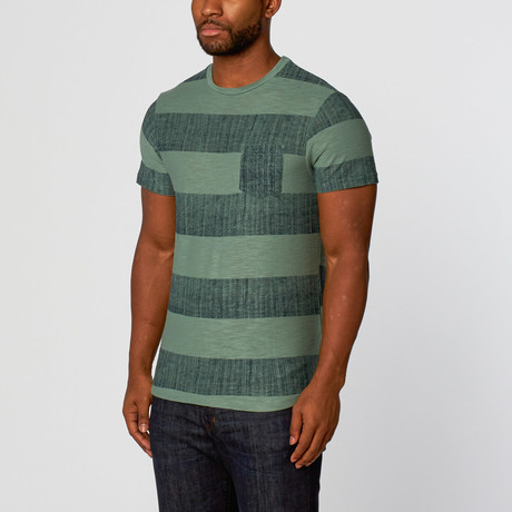Rocco Long Curved Tee // Lucky Green