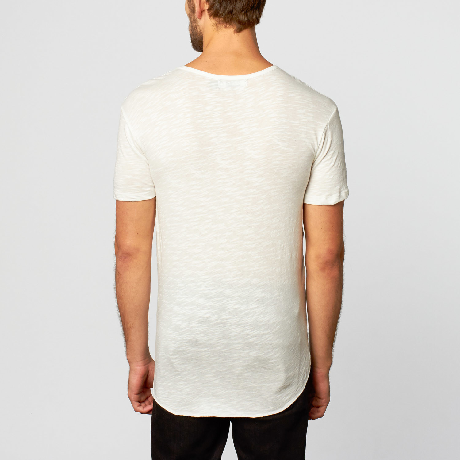 Long Line Tee // White (S) - Kinetix - Touch of Modern