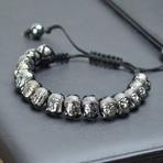 Zen Buddha Bracelet // Gunmetal