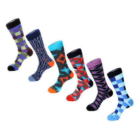 Dress Socks // Electric Vibes // Pack of 6
