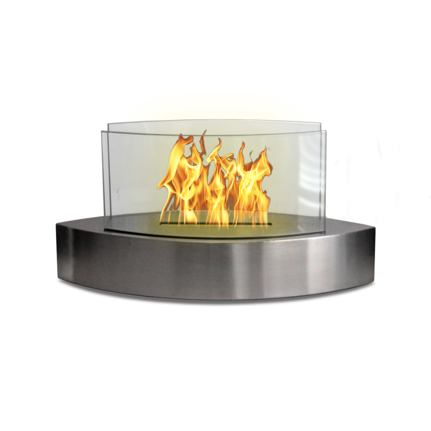 lexington stainless steel anywhere fireplace touch of modern