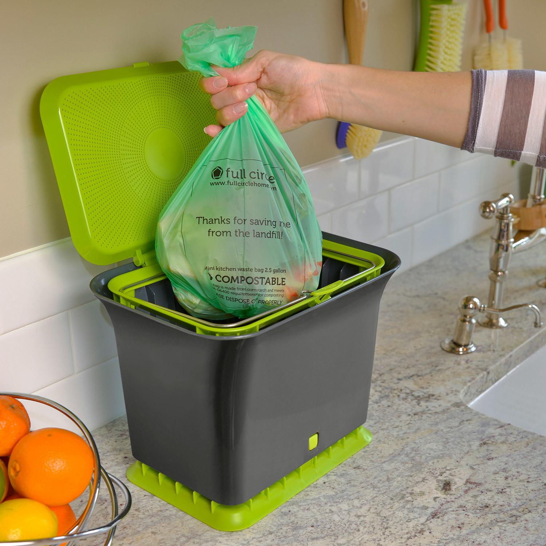 Full Circle Fresh Air Compost Collector White
