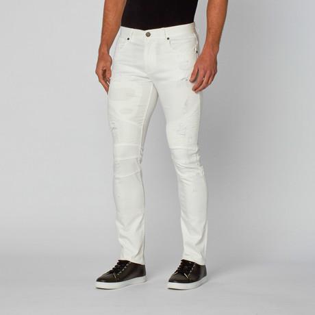 Laguardia White Moto Denim // White
