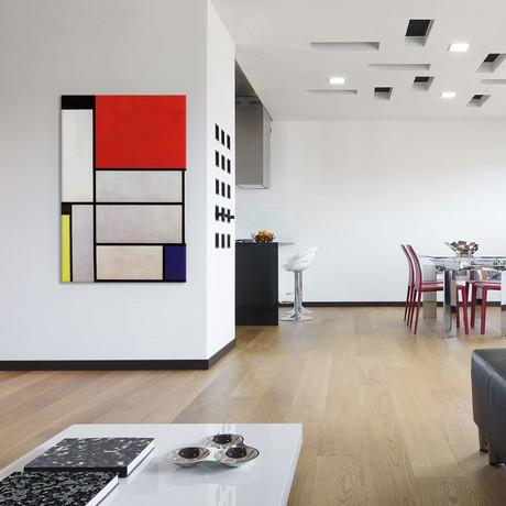 """Tableau l // Piet Mondrian // 1921 (26""""W x 18""""H x 0.75""""D)"""