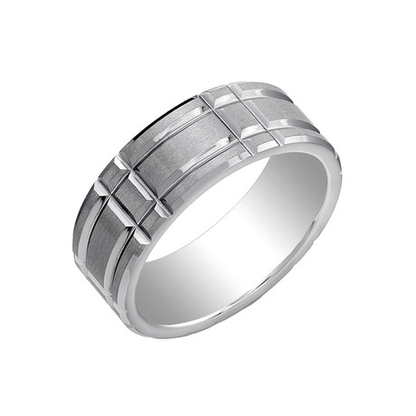 Tungsten Rectangular Band (Size 7)