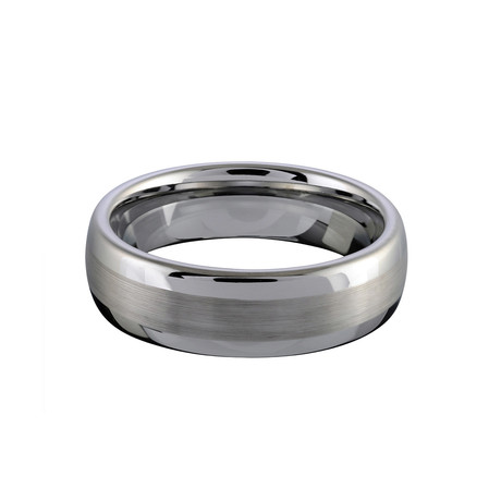 Tungsten Brushed Tiffany Band (Size 8)