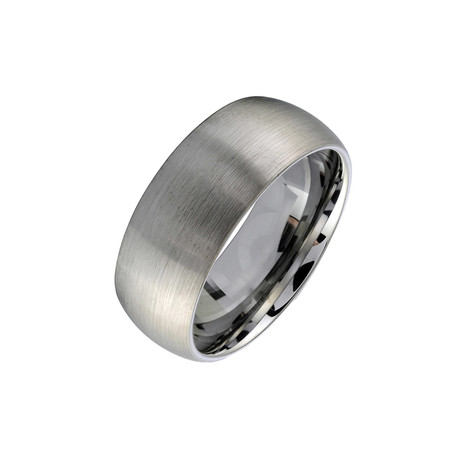 Tungsten Brushed Tiffany Band (Size 7)
