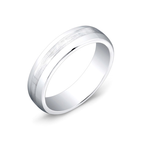 Cobalt Center Brushed Band (Size 7)