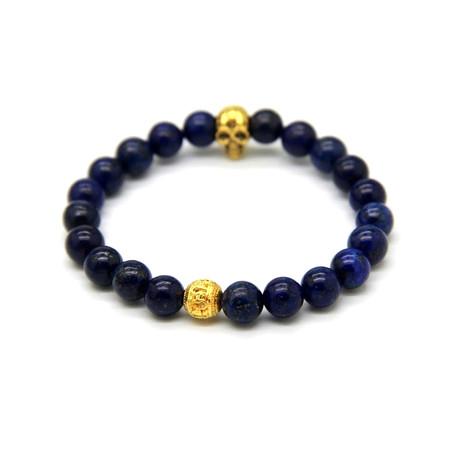 Stone // Blue + Gold Skull