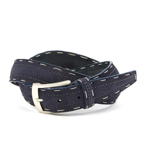 Dwayne Top Stitch Belt // Blue