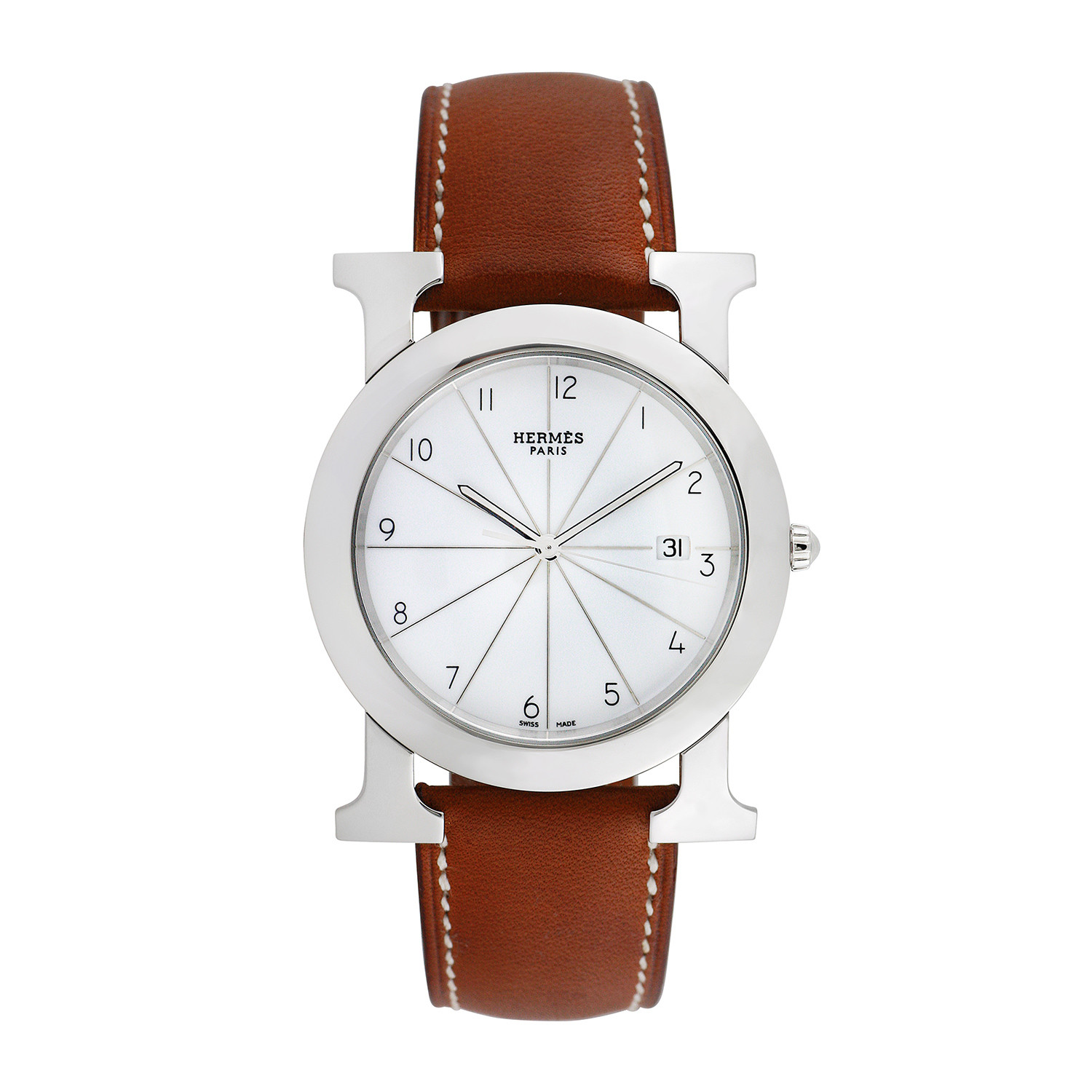 Hermes h watch quartz 793 tm10045 pre owned pre owned collectible watches for Celebrity quartz watch