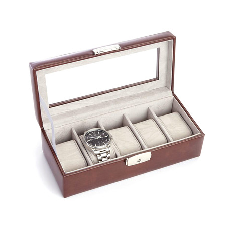 Five Slot Watch Box // Aristo Leather (Black)